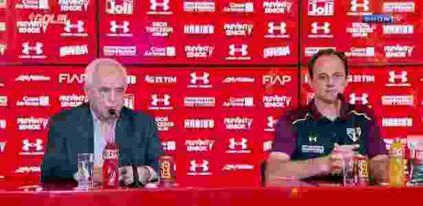 Rogério Ceni, agora técnico do São Paulo - Reprodução/Sportv - Reprodução/Sportv