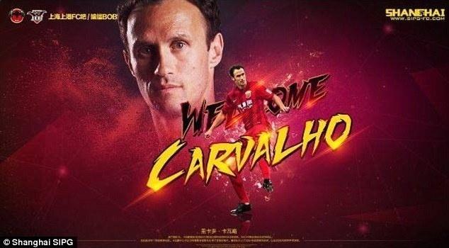 Ricardo Carvalho é o novo zagueiro do Shanghai SIPG