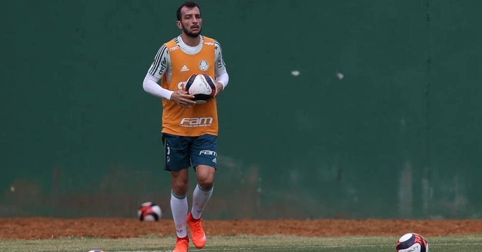 Edu Dracena foto treinamento Palmeiras novo uniforme