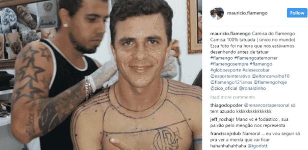 Maurício exibe os primeiros riscos da camisa do Flamengo - Reprodução/Instagram - Reprodução/Instagram