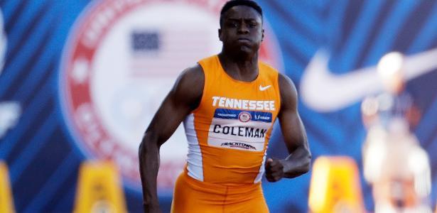 Coleman fez o melhor tempo do ano nos 100m ao cravar 9s82