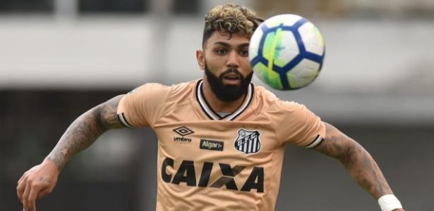 Gabriel Barbosa declarou sua vontade de vestir a camisa do Flamengo - Divulgação/Santos F.C.