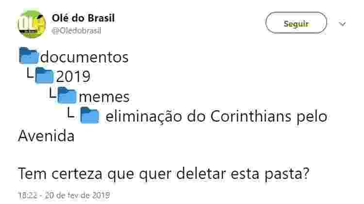 Meme Corinthians - Reprodução/Twitter - Reprodução/Twitter