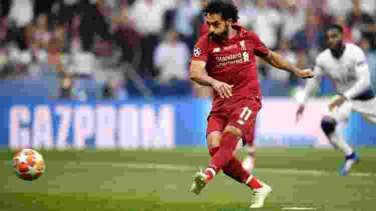 Salah bate pênalti na final da Champions - Reprodução TwitterLFC - Reprodução TwitterLFC