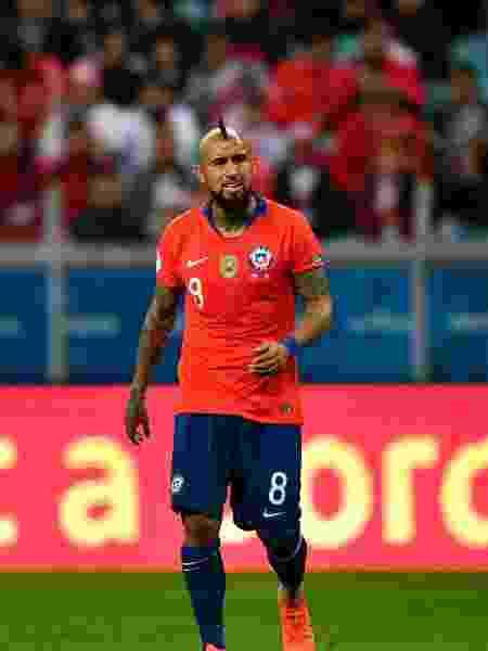 Arturo Vidal, jogador da seleção do Chile - Xinhua/Xin Yuewei