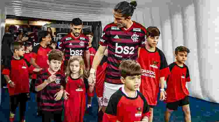 Filipe Luís é uma das armas do Flamengo na briga pelo título continental - Alexandre Vidal/Flamengo