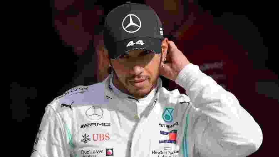 Lewis Hamilton durante GP da Itália - Andrej Isakovic/AFP