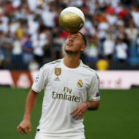Eden Hazard foi contratado pelo Real Madrid em junho de 2019 por cerca de R$ 400 milhões - REUTERS/Sergio Perez