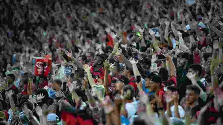 Torcida do Flamengo durante clássico contra o Fluminense em fevereiro - Alexandre Vidal/Flamengo