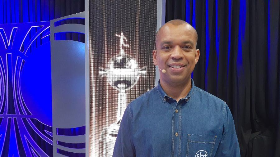 Luiz Alano antes de começar transmissão no SBT - Arquivo Pessoal