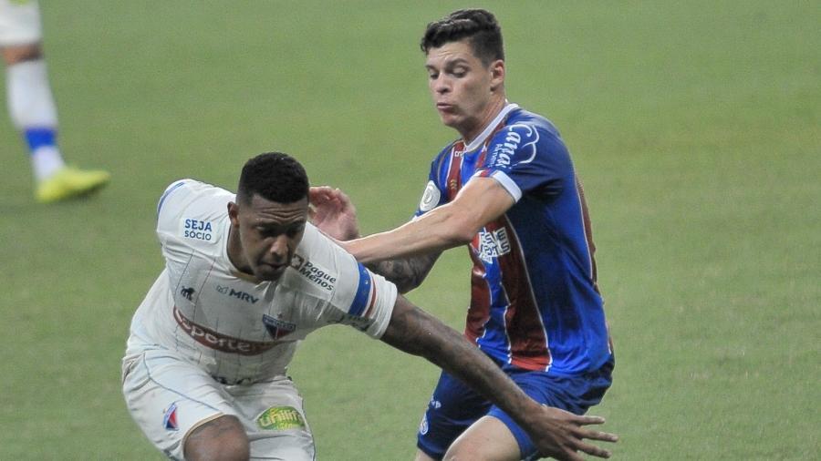 Bahia venceu o Fortaleza por 2 a 1 no jogo do primeiro turno, na Fonte Nova - Jhony Pinho/AGIF