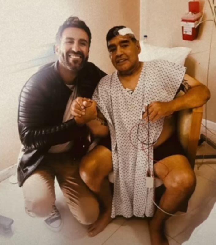 Maradona e Leopoldo Luque