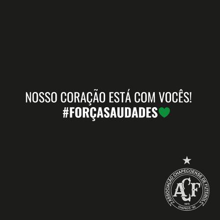 Chapecoense lamenta tragédia em creche em Saudade (SC) - Twitter