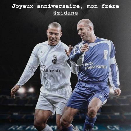 Ronaldo usou suas redes sociais para celebrar o aniversário de Zidane - Reprodução/Instagram