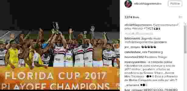 Thiago Mendes comemora título na Florida Cup - Reprodução - Reprodução