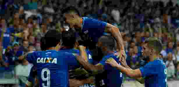 14d10d88fd Washington Alves Light Press. Jogadores do Cruzeiro comemoram gol contra ...