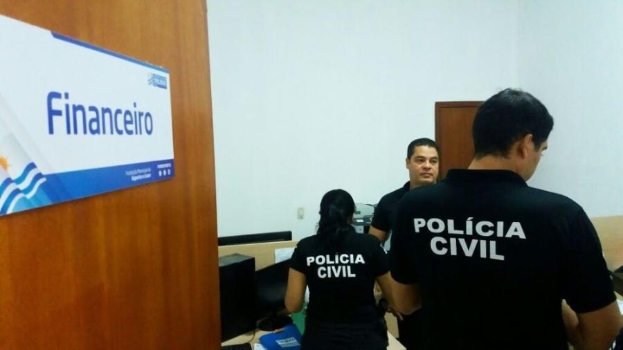 Polícia realiza operação contra desvio de dinheiro em Fundação de Esportes em Palmas (TO) - Divulgação/Ascom SSP