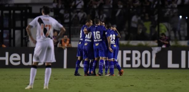Jogadores do Cruzeiro comemoram um dos gols em 2018