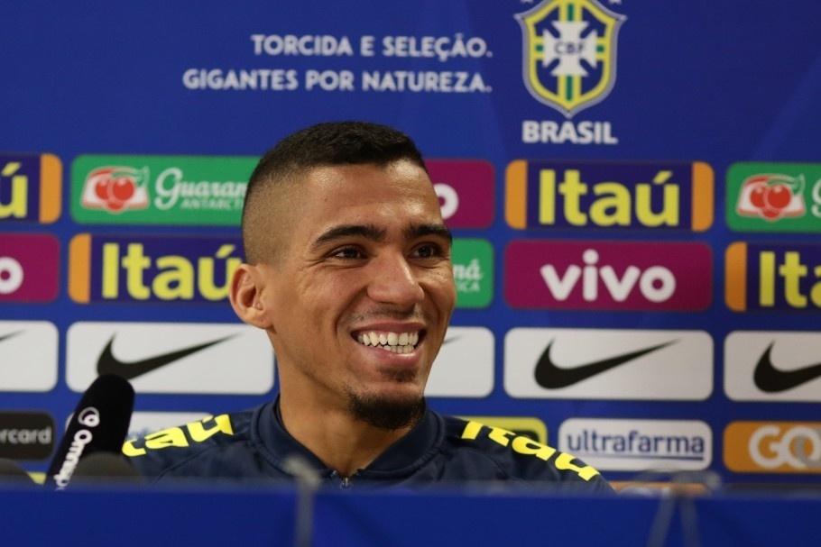 Allan, durante entrevista com a seleção brasileira