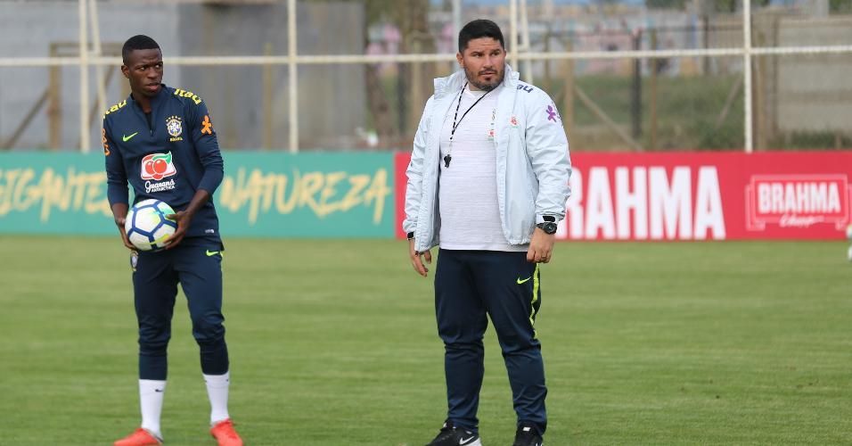 Eduardo Barroca, técnico do sub-20 do Corinthians e auxiliar da seleção
