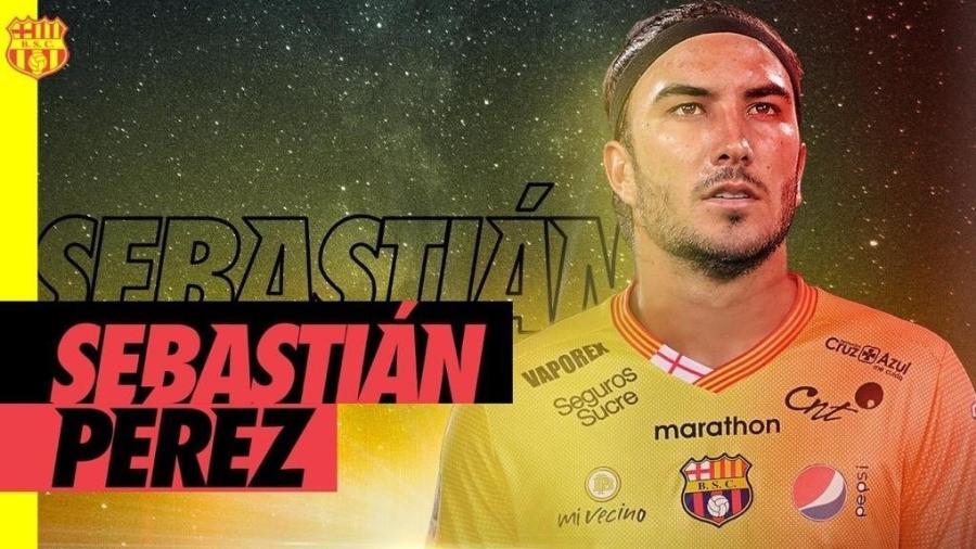 Barcelona (EQU) foi punido pela escalação de Sebastián Perez; segundo Defensor, jogador foi inscrito fora do prazo - @BarcelonaSC/Twitter