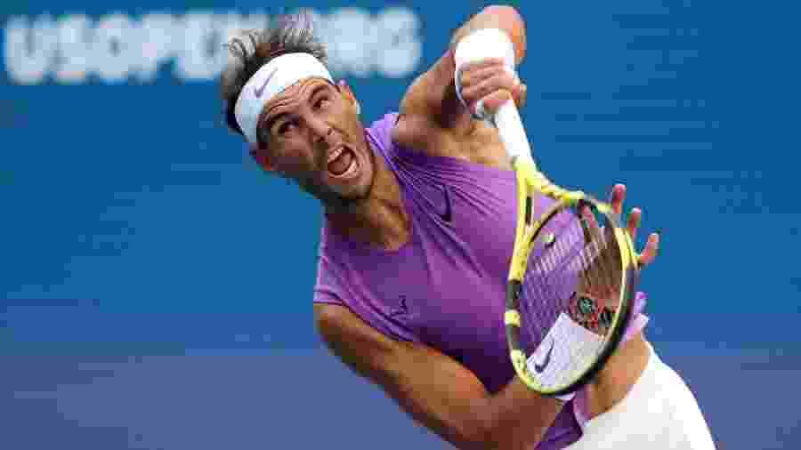 O espanhol Rafael Nadal em vitória sobre o sul-careano Hyeon Chung no US Open -  Elsa/Getty Images/AFP