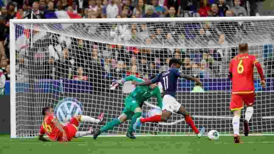 Coman abre o placar para a França contra Andorra, pelas Eliminatórias da Eurocopa 2020 - Divulgação/UEFA