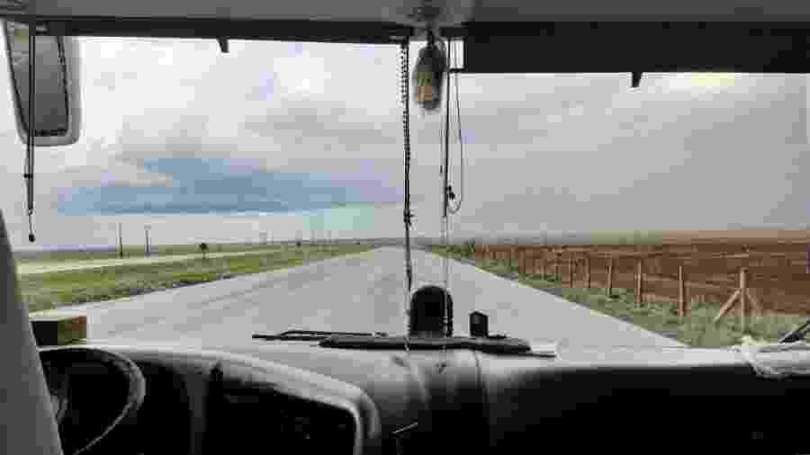 Caminho percorrido por ônibus que leva torcedores do Flamengo ao Peru - Diego Salgado/UOL