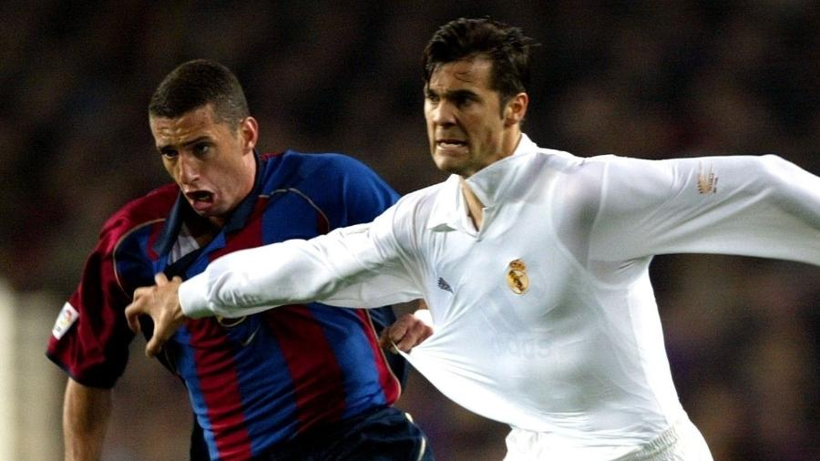 Fábio Rochemback, durante clássico entre Barcelona e Real Madrid - Sergio Perez/Reuters
