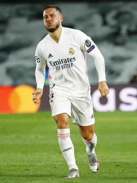 Eden Hazard sente lesão durante partida entre Real Madrid e Inter de Milão - REUTERS/Juan Medina