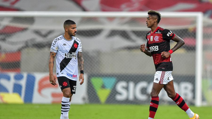 Bruno Henrique, do Flamengo, logo após marcar gol contra o Vasco: Carioca será exibido pela Record - Thiago Ribeiro/Thiago Ribeiro/AGIF