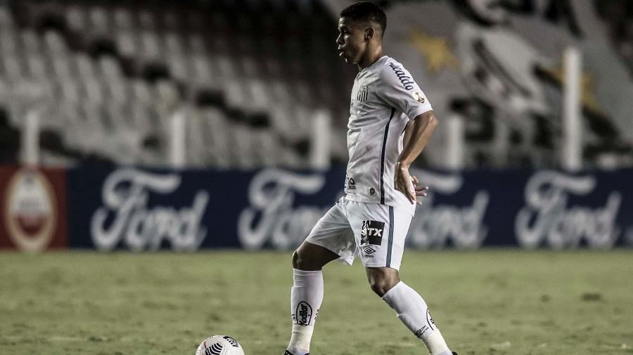 Sandry na vitória do Santos em cima do Deportivo Lara (VEN) pela Pré-Libertadores, em 9 de março de 2021 - Ivan Storti/Santos FC