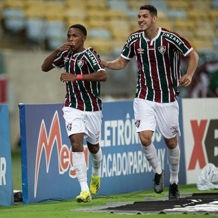 Kayky comemora gol do Fluminense contra o Nova Iguaçu pelo Carioca - Jorge Rodrigues/AGIF