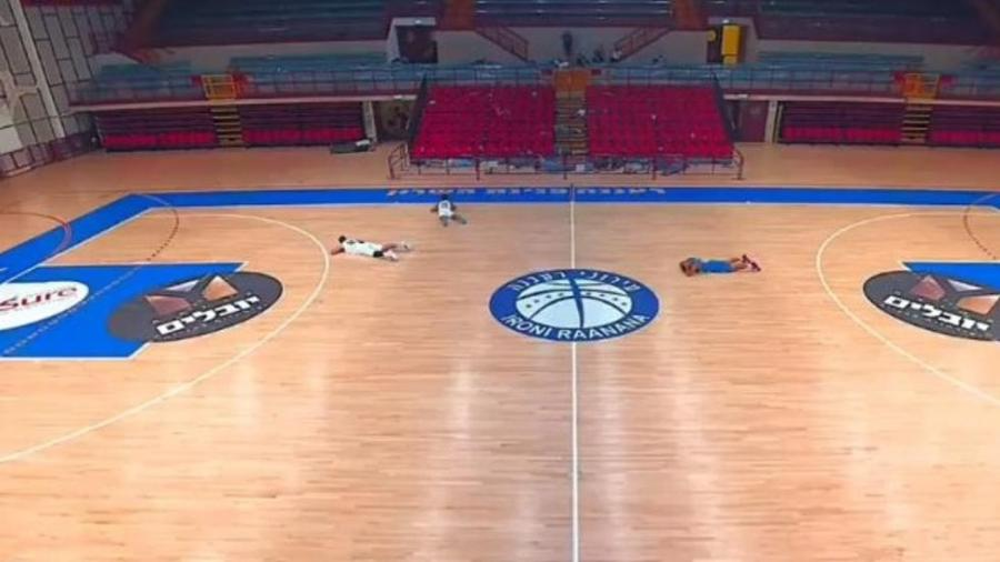 Partida de basquete interrompida por alarme de mísseis - Reprodução