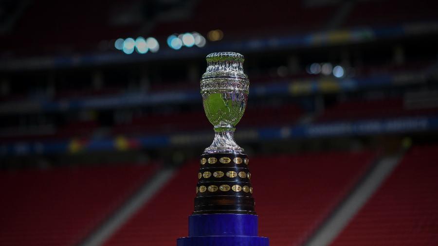 Taça da Copa América no Estádio Mané Garrincha. Duelo entre Brasil e Venezuela abriu a competição - Mateus Bonomi/AGIF