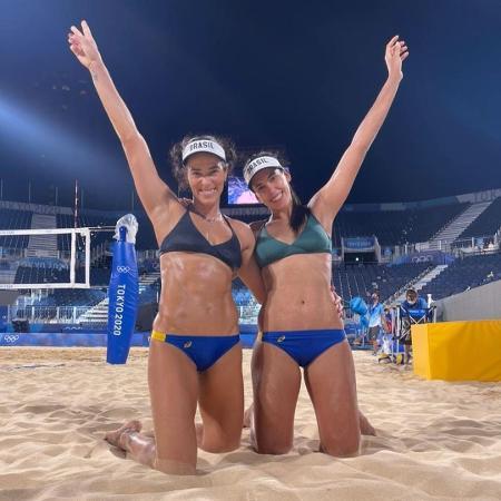 Ágatha e Duda, dupla brasileira que busca medalha no vôlei de praia da Tóquio-2020 - Reprodução/Instagram