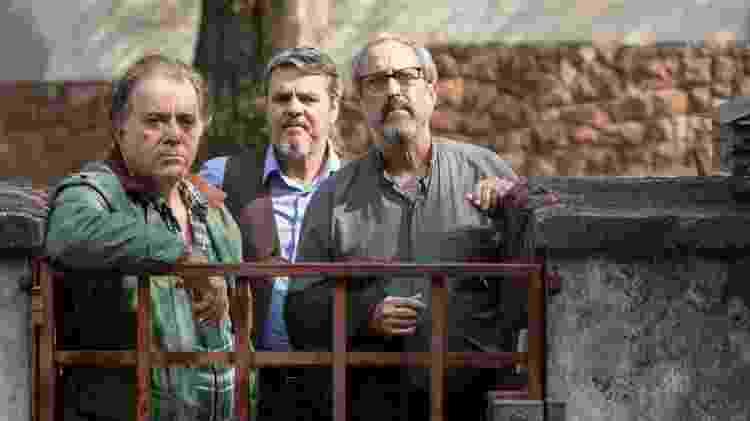 Pedro, personagem de Tony Ramos, reencontra amigos Ivan (Cássio Gabus Mendes) e Mariano (Ary França) após 40 anos - Divulgação - Divulgação