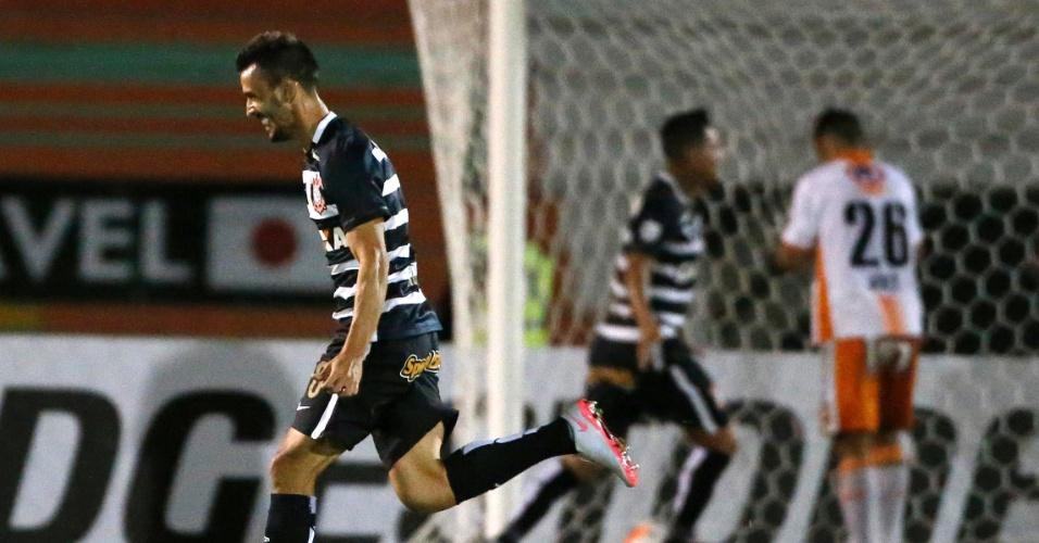 Uendel comemora gol do Corinthians contra o Cobresal, na Libertadores