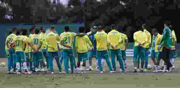 Cuca conversa com elenco do Palmeiras antes de treino realizado na Academia - Cesar Greco/Ag Palmeiras