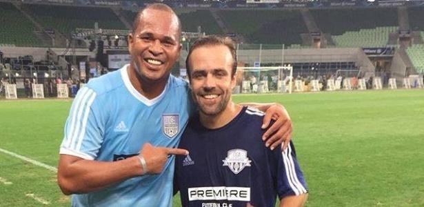 Ex-jogadores Aloísio Chulapa e Roger participaram do evento no último final de semana