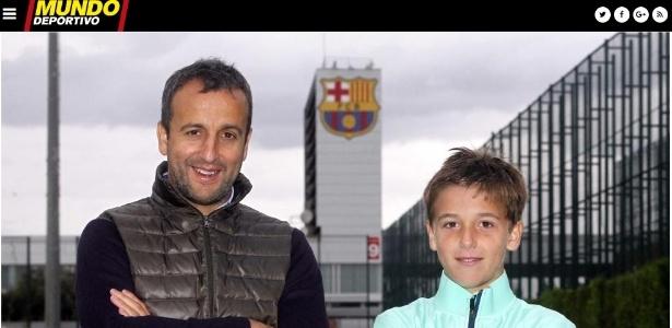 Nico ao lado de seu pai Fran González