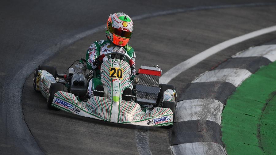 O piloto brasileiro de kart Gianluca Petecof foi sexto no mundial, em 2017 - Manuela Nicoletti/Foto Formula K