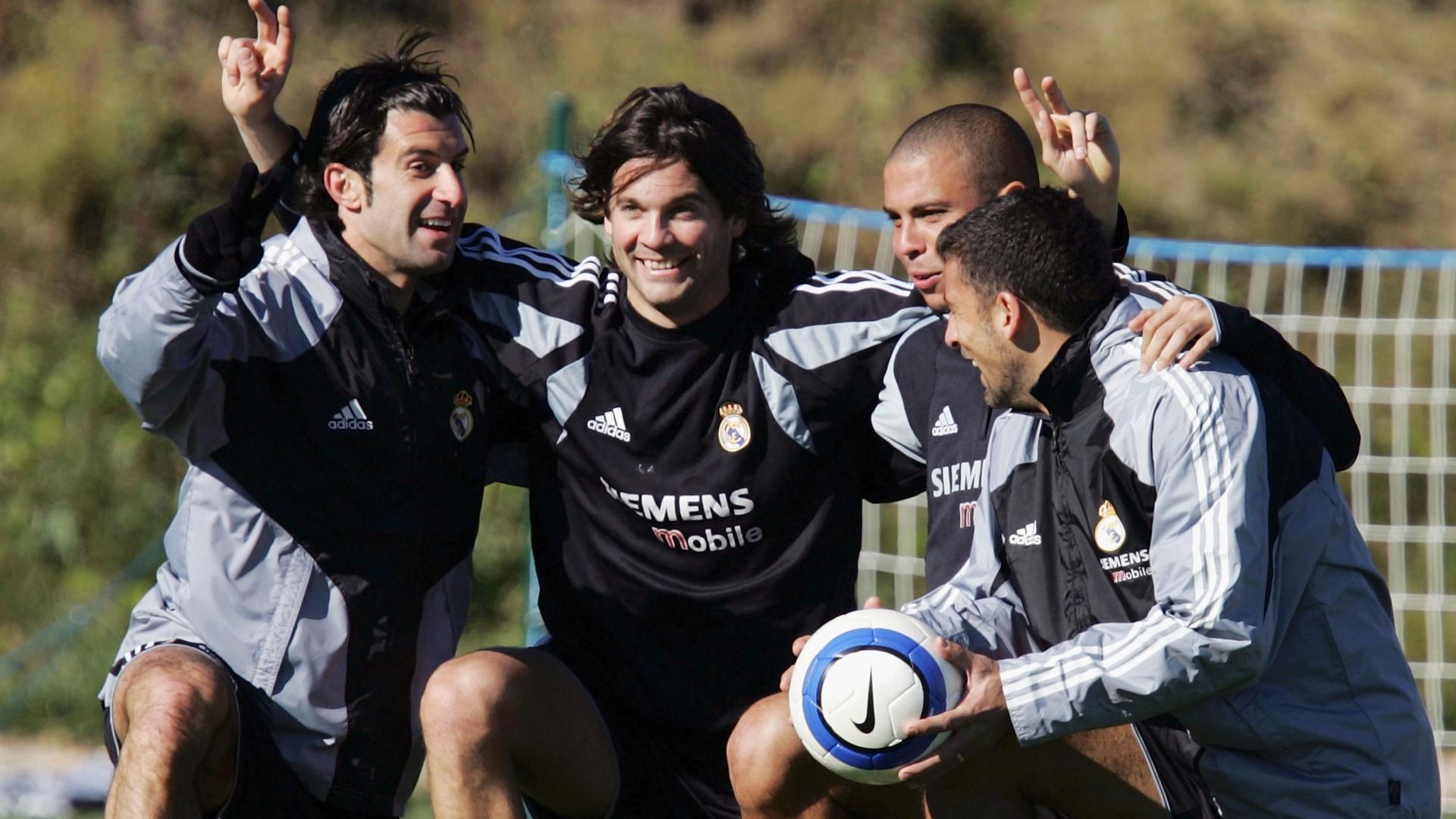 Luis Figo Santiago Solari Ronaldo Walter Samuel Real Madrid