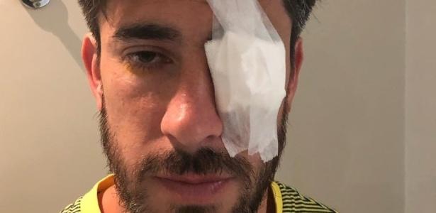 No sábado, Pablo Pérez saiu do estádio do River Plate rumo a um oftalmologista  - Reprodução/Jorge Pablo Batista/Instagram