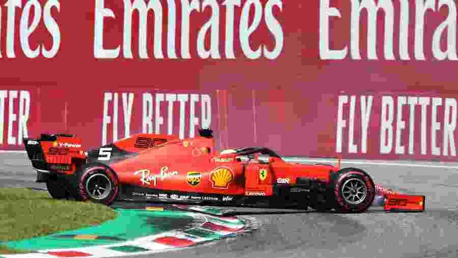 Sebastian Vettel durante o Grande Prêmio de Monza - Charles Coates/Getty Images