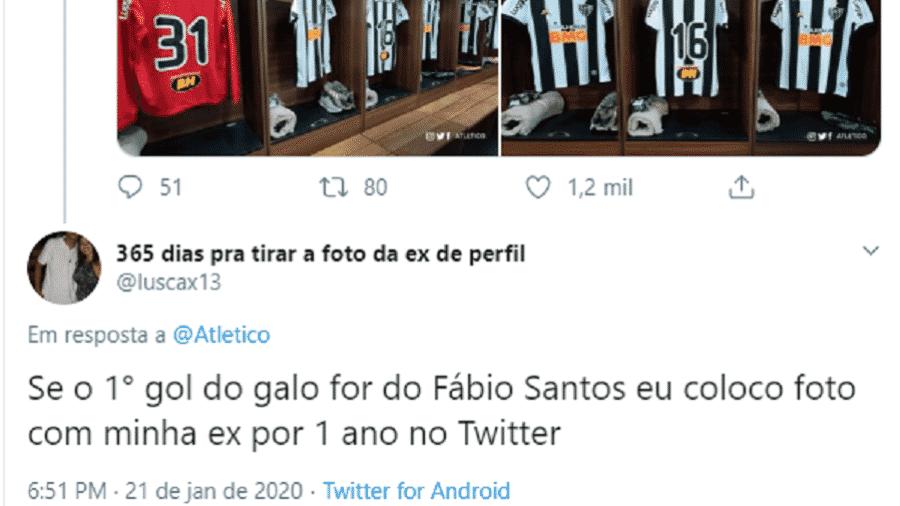 Postagem de torcedor do Galo viralizou no Twitter - Reprodução/Twitter