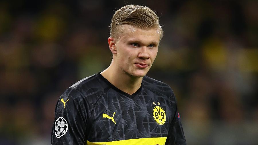Erling Haaland, centroavante do Borussia Dortmund, poderia ter atuado pela Juventus - Chris Brunskill/Fantasista/Getty Images