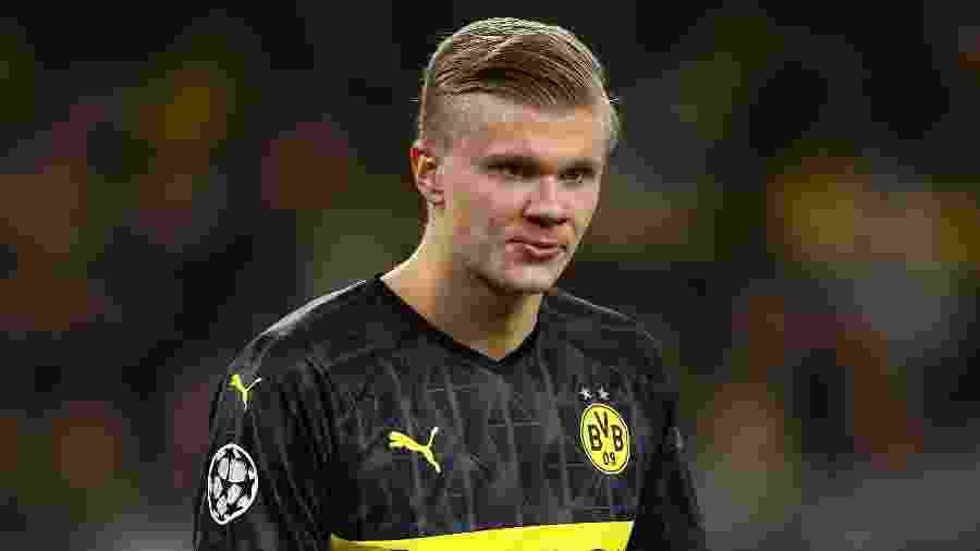 Erling Haaland, centroavante do Borussia Dortmund, está na mira do Real Madrid - Chris Brunskill/Fantasista/Getty Images