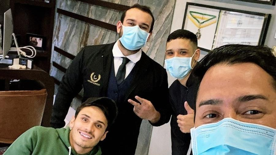 Veiga foi ao dentista após acidente na Libertadores - Reprodução