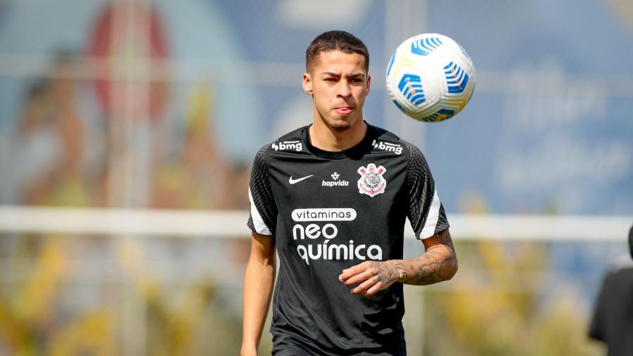 Gabriel Pereira em treino do Corinthians - Rodrigo Coca/Agência Corinthians
